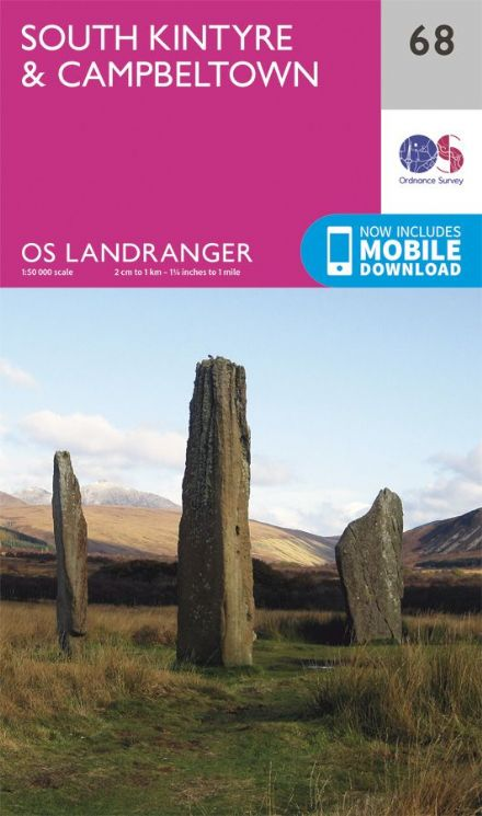 OS Landranger 68 South Kintyre and Campletown